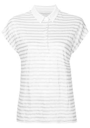 Majestic Filatures striped polo shirt - White