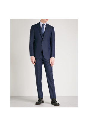 Tailored-fit three-piece wool suit