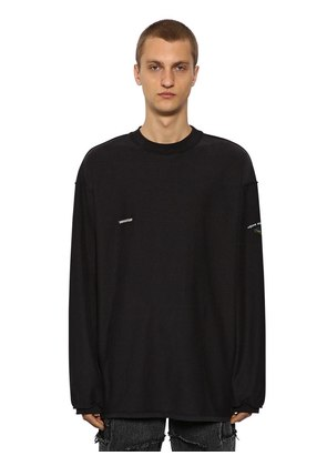 INSIDE-OUT JERSEY LONG SLEEEVE T-SHIRT