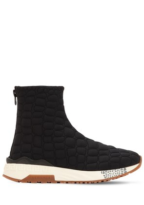 QUILTED NYLON PADDED SOCK SNEAKERS