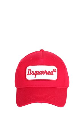 LOGO PATCH COTTON BASEBALL HAT