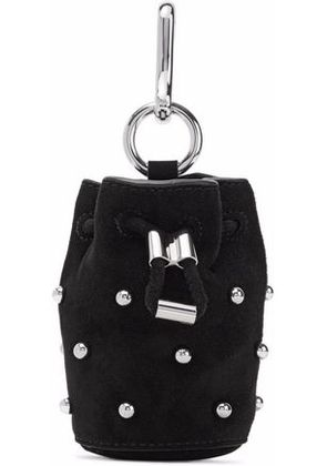 Alexander Wang Woman Studded Suede Keychain Black Size -