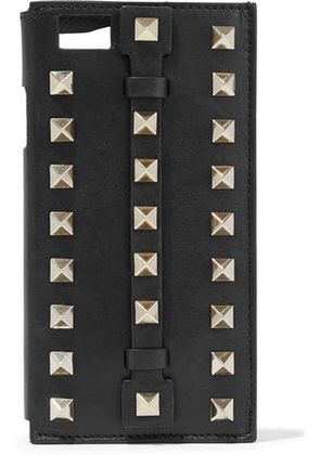 Valentino Woman Studded Leather Iphone 6 Case Black Size -