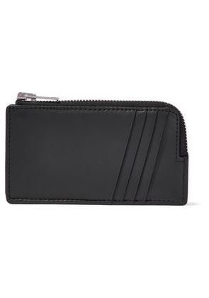 Alexander Wang Woman Embossed Leather Cardholder Black Size -