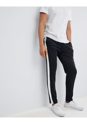 Jack & Jones Track Pant With Sport Stripe In Slim Fit - Black
