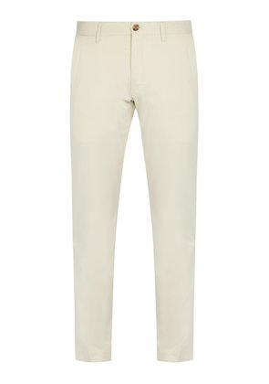 Mid-rise stretch cotton chino trousers
