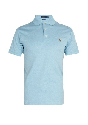 Logo-embroidered cotton-jersey polo shirt