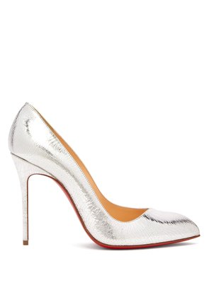 Corneille 100 cracked-leather pumps