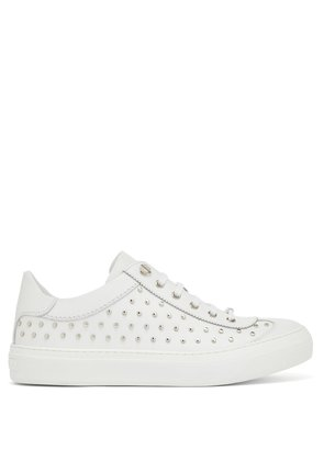Ace stud-embellished leather trainers