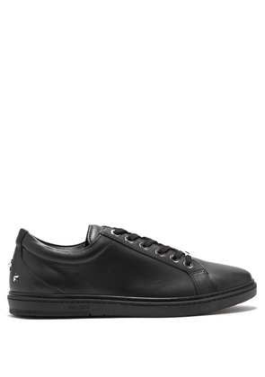 Cash leather low-top trainers