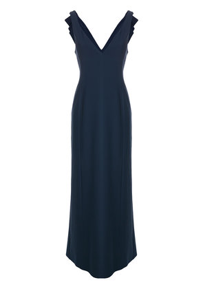 Emporio Armani folded bow detail dress - Blue