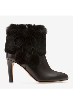 Bally Lacea Black, Women's calf leather ankle boot with 85mm heel in black