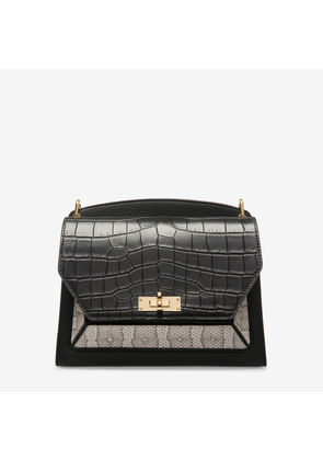 Bally Suzy Medium Black, Women's grained goat leather shoulder bag in black