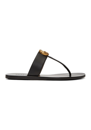 Gucci Black Marmont Thong Sandals