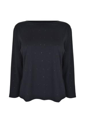 ARMANI JEANS Letter Long Sleeved T Shirt