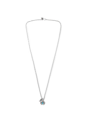 Burnished Sterling Silver Turquoise Necklace