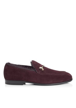 MARTI Iris Velvet Suede Loafers with Fur Lining