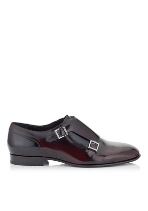 TATE Bordeaux and Black Soft Shiny Calf Leather Formal Shoes