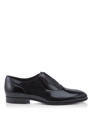 TYLER Navy and Black Soft Shiny Calf Leather Lace Up Shoes