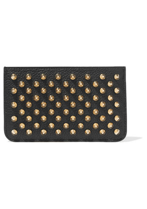 Christian Louboutin - Panettone Spiked Textured-leather Pouch - Black