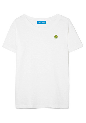 M.i.h Jeans - Earth Tee Embroidered Cotton-jersey T-shirt - White