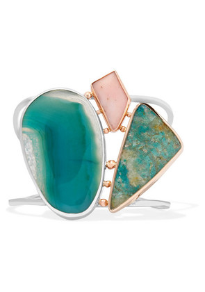 Melissa Joy Manning - 14-karat Gold, Sterling Silver And Multi-stone Cuff - one size
