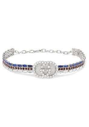Gucci - Silver-plated Crystal Choker - one size