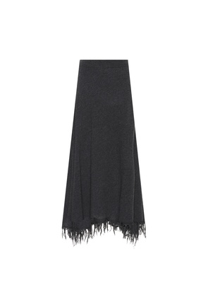 Wool and cashmere skirt
