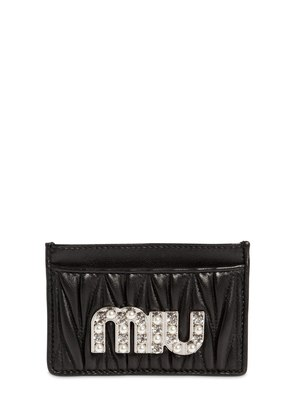 QUILTED LEATHER CARD HOLDER