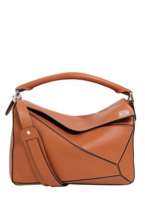 MEDIUM PUZZLE LEATHER TOP HANDLE BAG