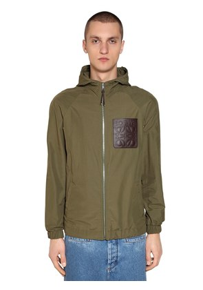 HOODED PATCH ZIP JACKET