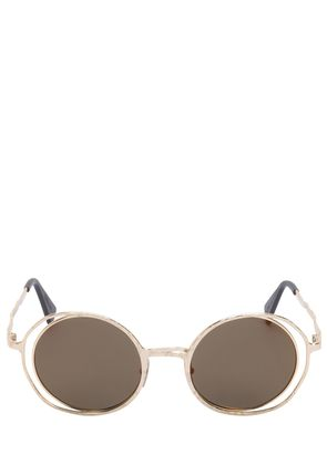 DOUBLE ROUND TEXTURED METAL SUNGLASSES