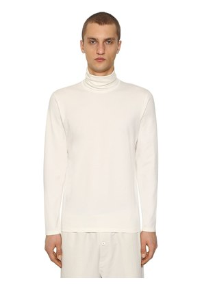 COTTON LONG SLEEVE TURTLENECK T-SHIRT