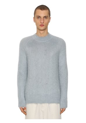 BRUSHED SILK & MOHAIR SWEATER