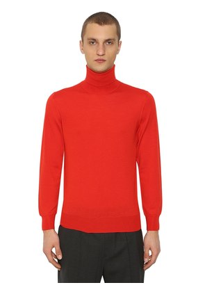 TURTLENECK WOOL & SILK SWEATER