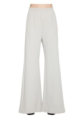 RIBBED JERSEY WIDE LEG PANTS
