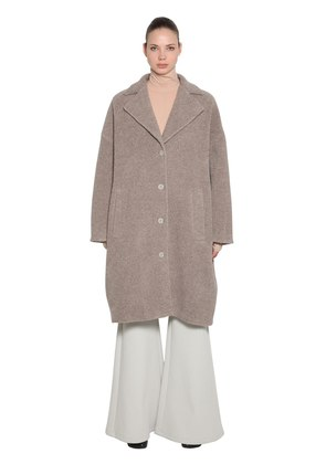 OVERSIZED WOOL TERRYCLOTH LONG COAT