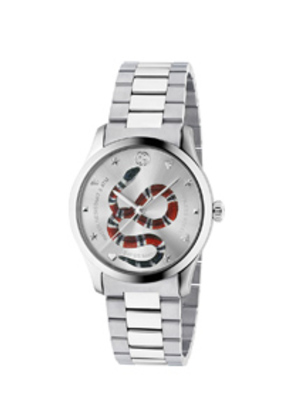 Gucci 38MM G-Timeless Snake Bracelet Watch in Metallics