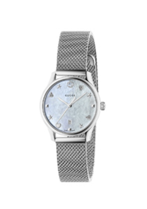 Gucci 29MM G-Timeless Mesh Band Watch in Metallics
