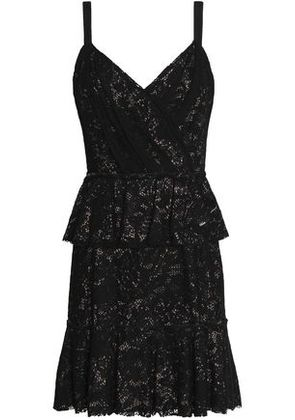 Dolce & Gabbana Woman Lace Peplum Mini Dress Black Size 38