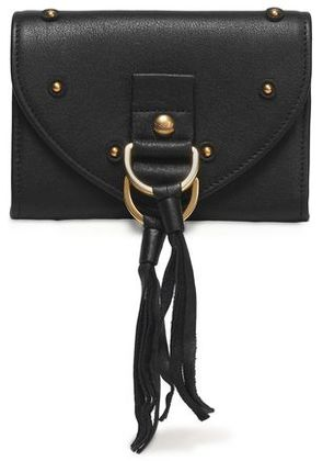 See By Chloé Woman Collins Tasseled Textured-leather Wallet Black Size -