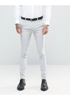 ASOS Super Skinny Suit Trousers in Light Grey - Light grey