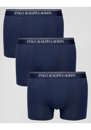 Polo Ralph Lauren Trunks In 3 Pack - Navy