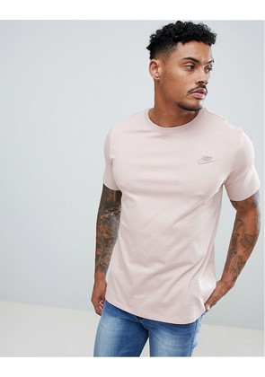 Nike Embroidered Swoosh T-Shirt In Pink 827021-684 - Pink