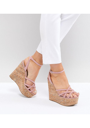 ASOS TULITA Wide Fit High Wedges - Dusty pink