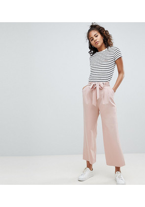 ASOS DESIGN Tall mix & match culotte with tie waist - Nude