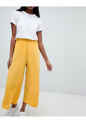 ASOS DESIGN tailored easy elasticated waist soft culottes - Mustard
