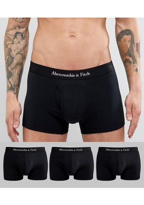 Abercrombie & Fitch 3 Pack Trunks Logo Waistband in Black - Black