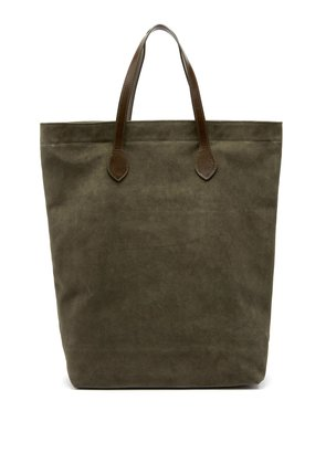Rectangular suede tote bag