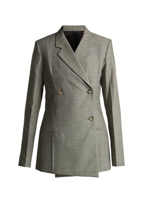 Tailored wool and mohair blend blazer